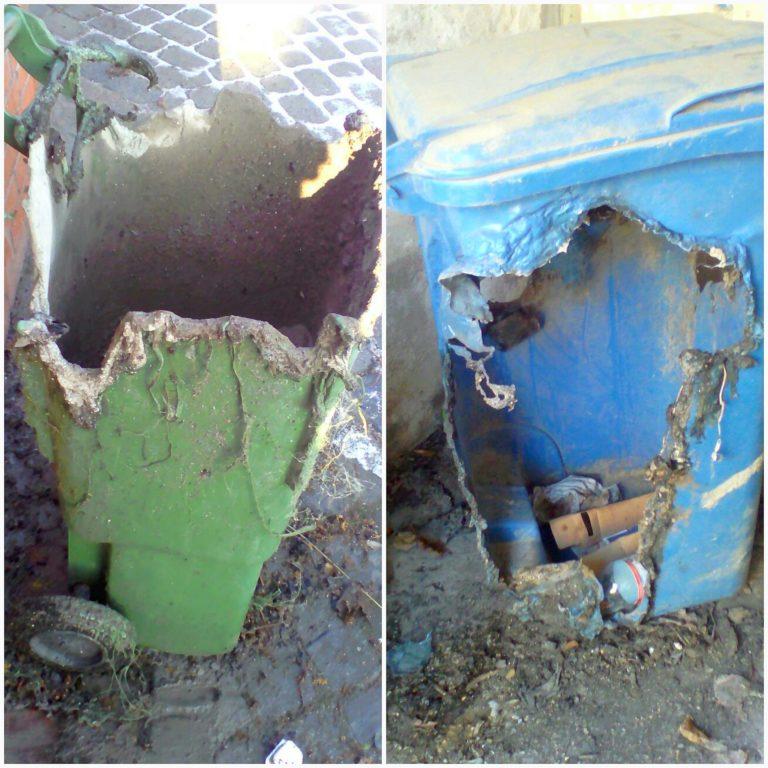 Przypominamy o zakazie wrzucania GORĄCEGO POPIOŁU do pojemników na odpady zmieszane.